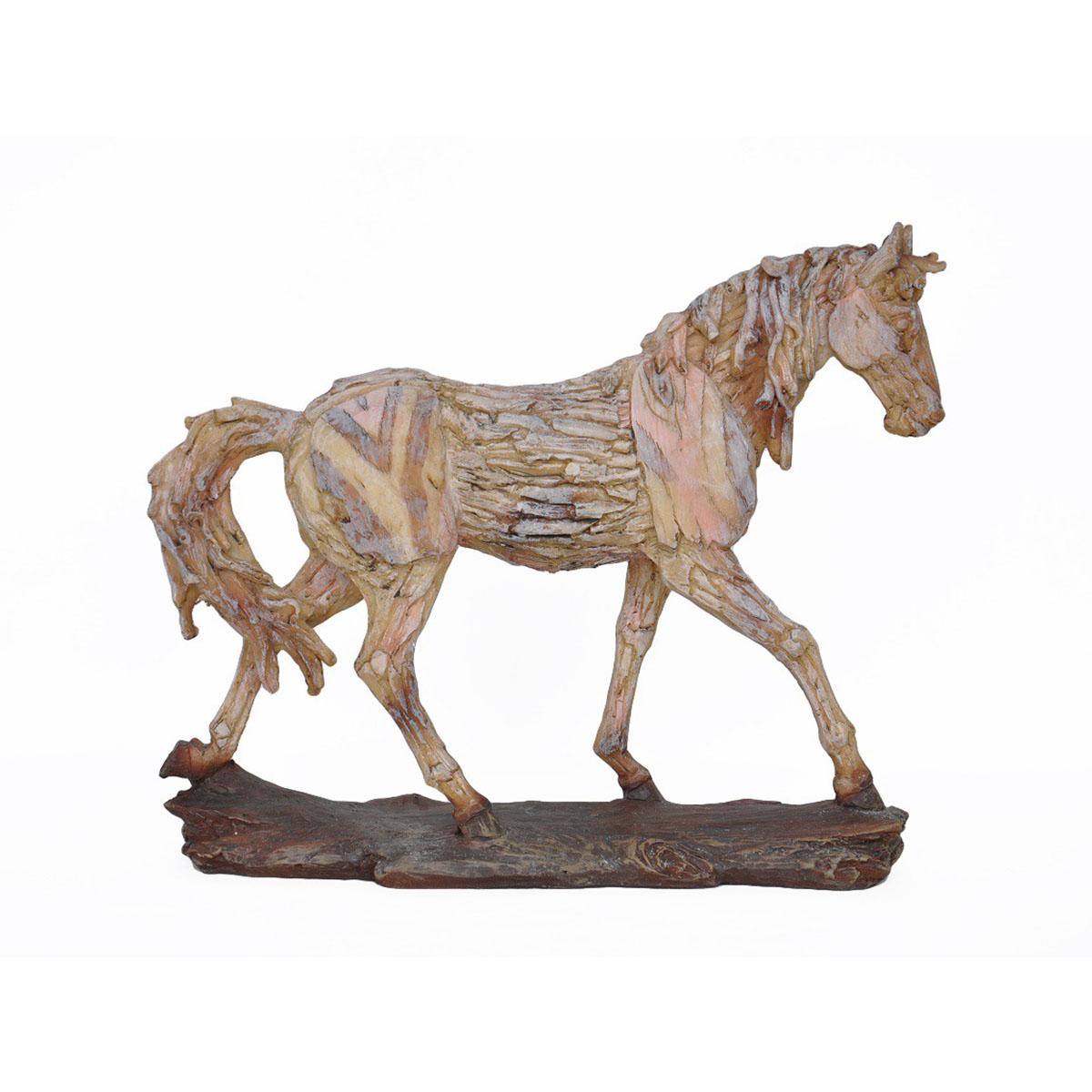 Nietypowy Okaz Figurka koń w kłusie a la drewno   Anlux - Idealne dekoracje i HG47