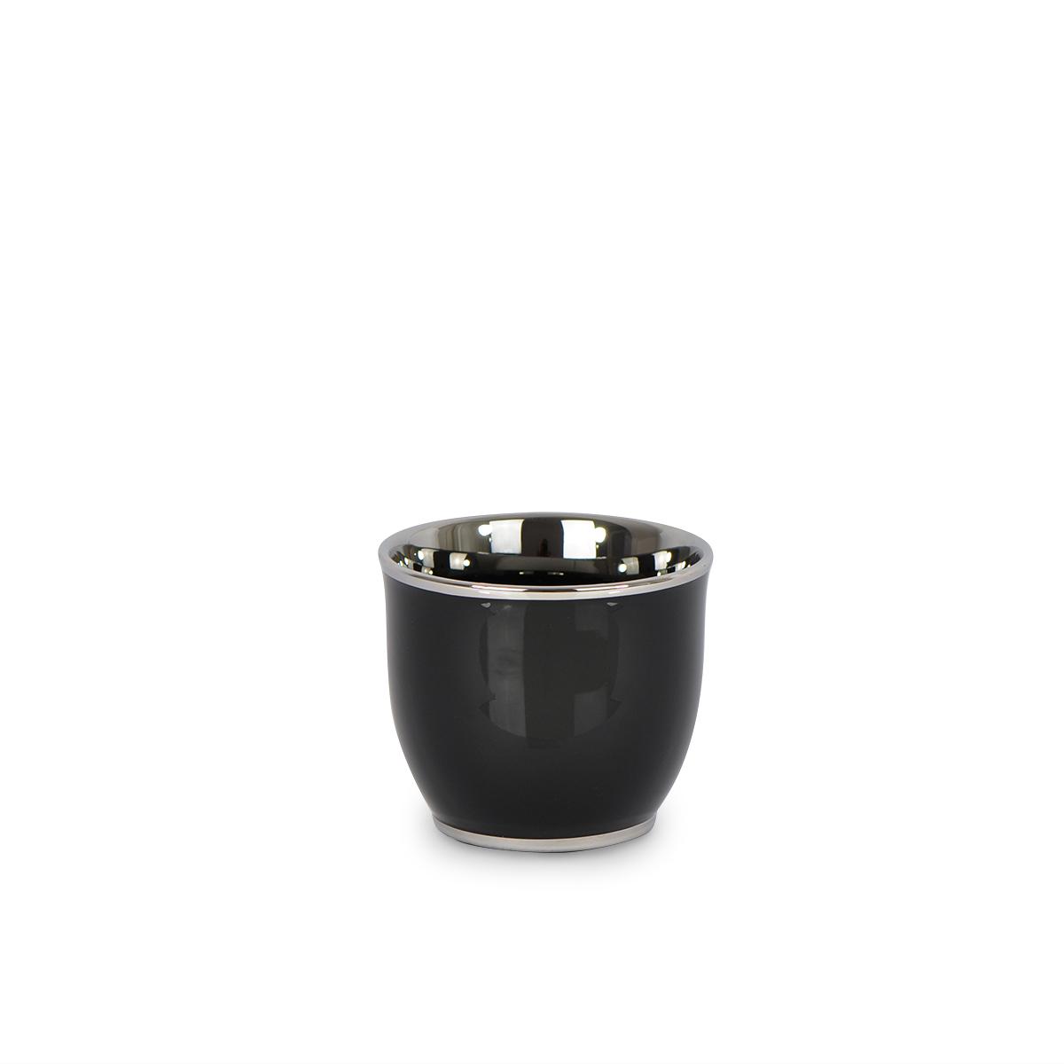 Doniczka Ceramiczna Czarna Okrągła Mała